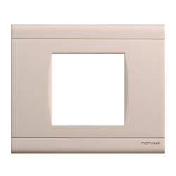 Plaque simple beige mat