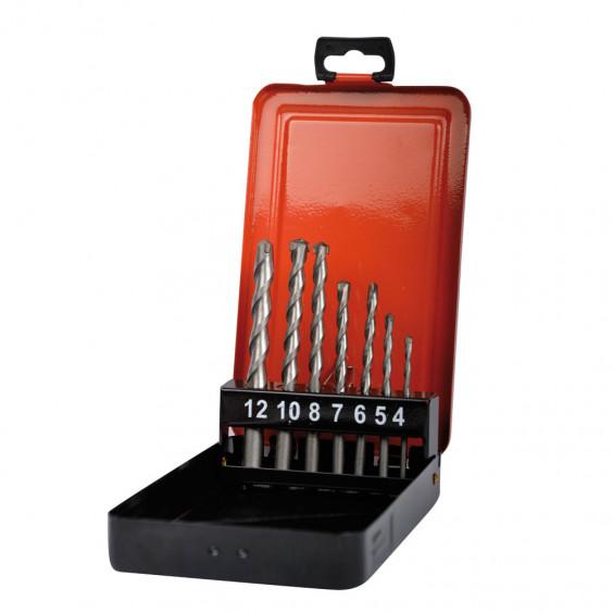 Coffret métal 7 forets à béton