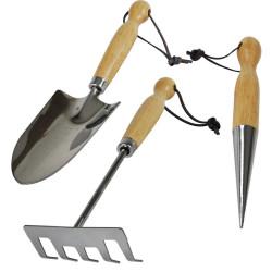 Set 3 outils de jardinage Inox