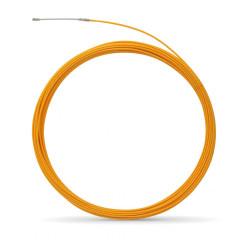 Tire fil polyester de 30m jaune Ø5mm à embout interchangeable