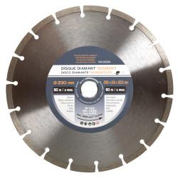 Disque diamant 230 mm segment