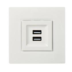 Prise chargeur USB + plaque finition