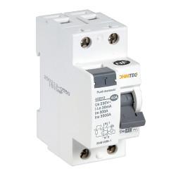 Interrupteur différentiel 1P+N 40A type AC