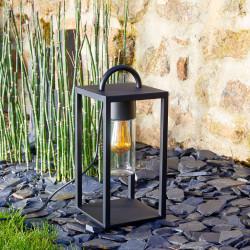 Lanterne noire E27 25W max (sans ampoule)