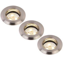 Set de 3 spots à encastrer LED extérieur IP67