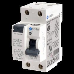 Interrupteur différentiel 1P+N 30 mA, 63A type AC