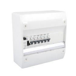 Tableau Électrique NF Pré Câblé 1 rangée 1 ID 63A + 6 Disjoncteurs à vis NALTO