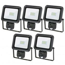 Lots de 5 Projecteurs LED extra-plat 30W + détecteur CREALYS