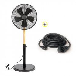 Ventilateur Sur Pied 50W+ Rallonge 10m