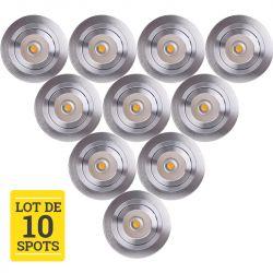 Lot de 10 Spots LED COB Orientables Encastrables 5W