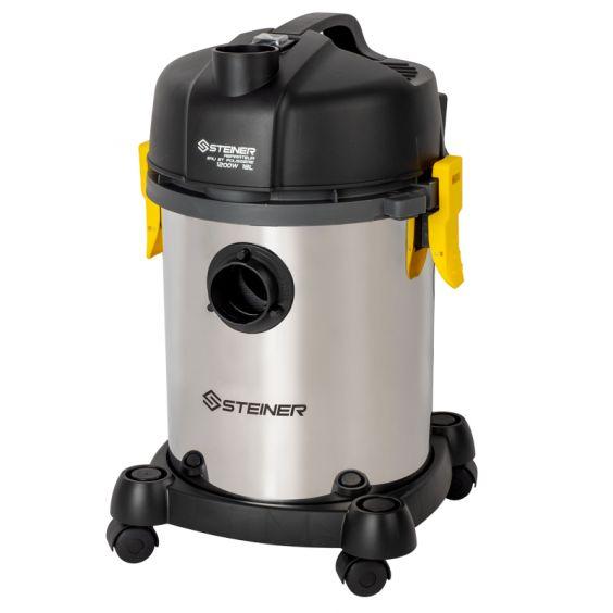 Aspirateur eau et poussières 18L inox sans sac avec fonction souffleur - 1200W