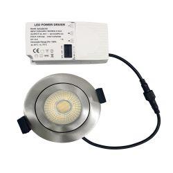 Spot à encastrer Orientable Variable IP65 CCT RT2012 6W LED Aluminium brossé WOLTZ