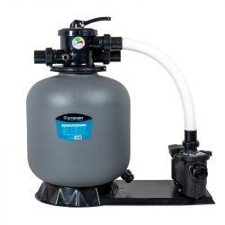 Groupe de filtration 0.6CV 11m³/h Ø450mm vanne Top 6 voies STEINER