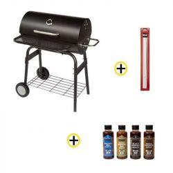 Pack Barbecue Charbon 40x70 cm, Pics à Brochettes, Ustensiles et Sauces ROSTER