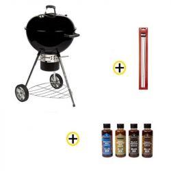 Pack Barbecue Charbon 57cm, Pics à Brochettes, Ustensiles et Sauces ROSTER
